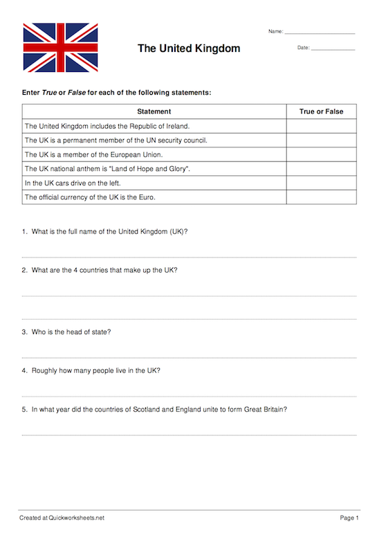 Custom Worksheet Thumbnail