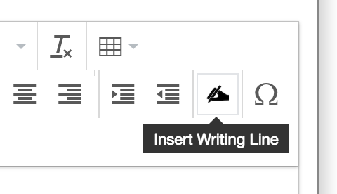Insert writing line icon.