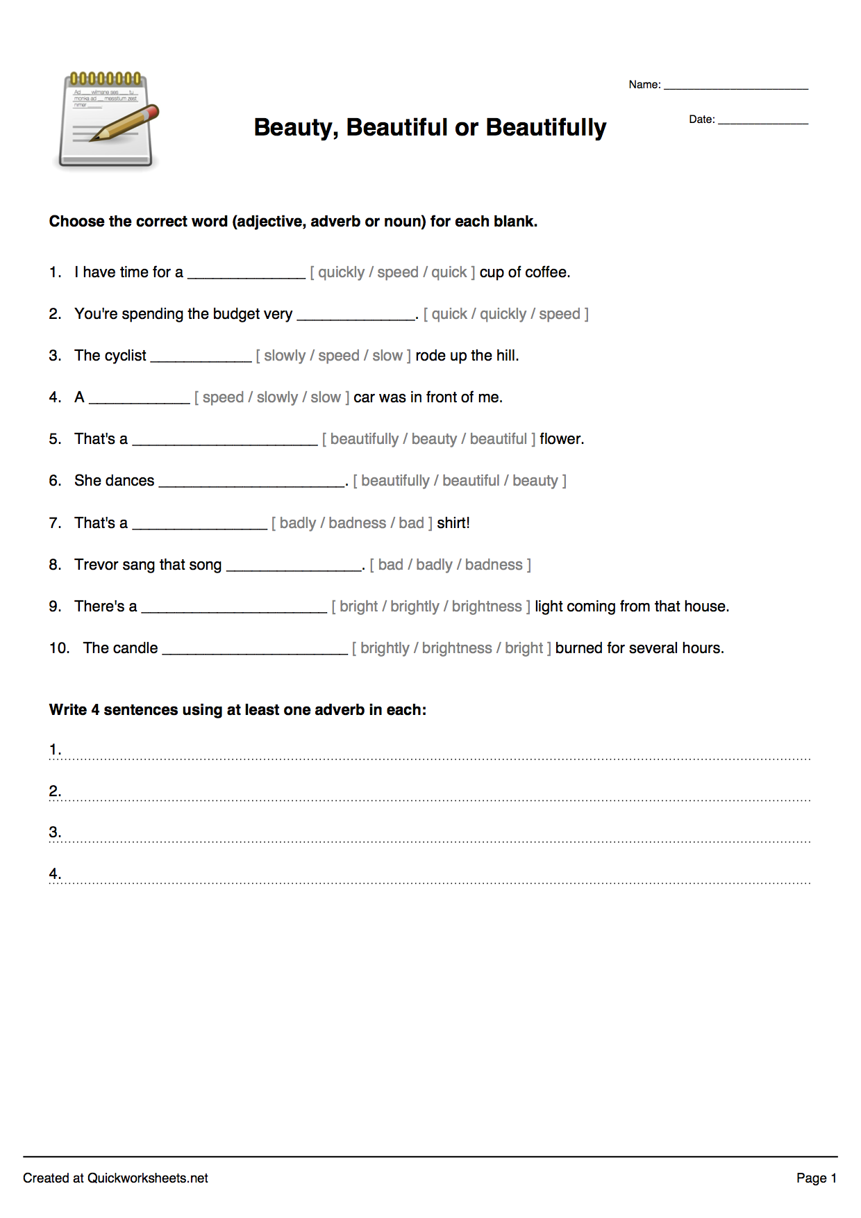FillintheBlank Sentences Worksheet Maker – Free Handwriting Worksheet Maker
