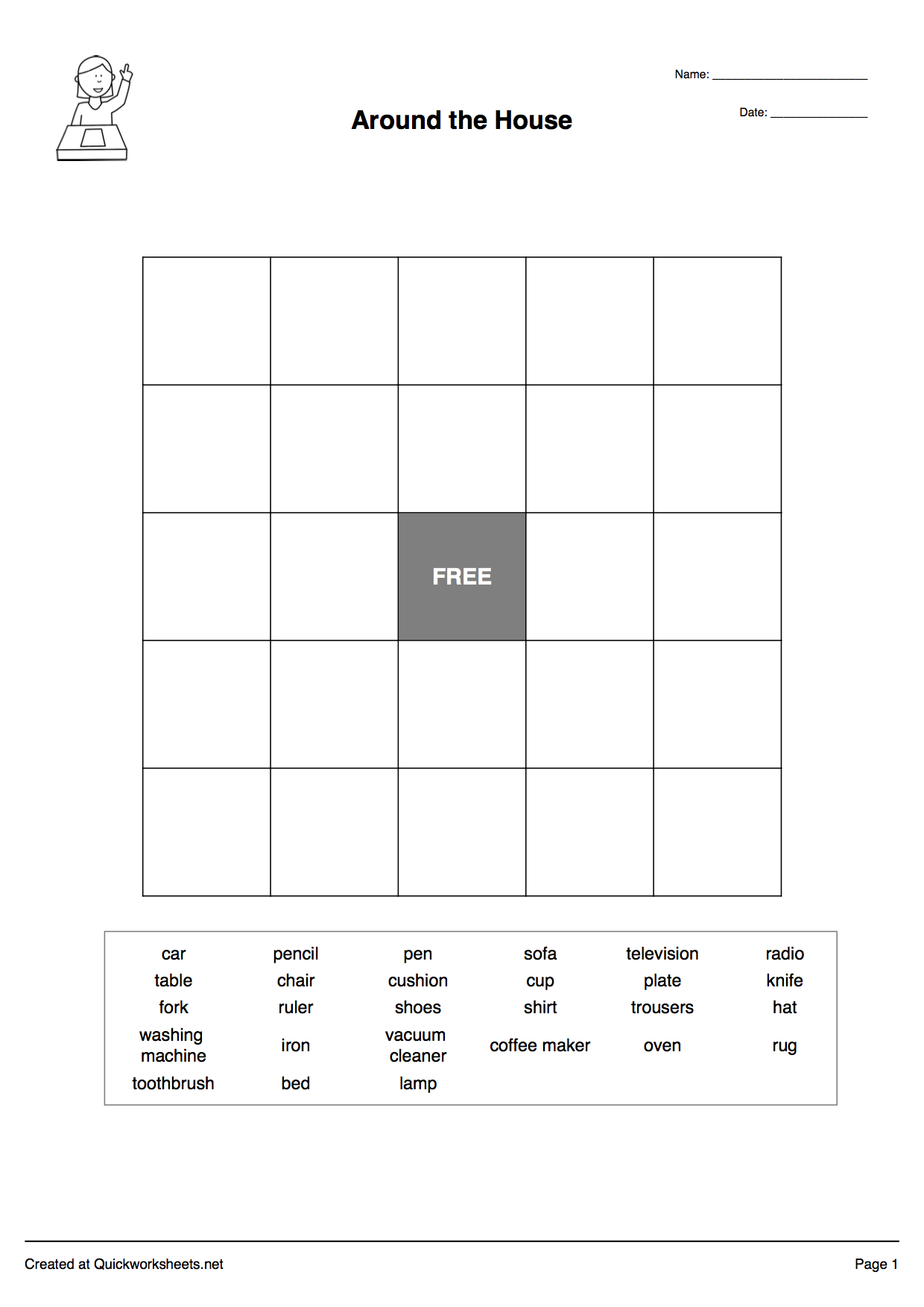 Worksheets Create Your Own Spelling Worksheets word scramble wordsearch crossword matching pairs and other bingo grid maker worksheet thumbnail